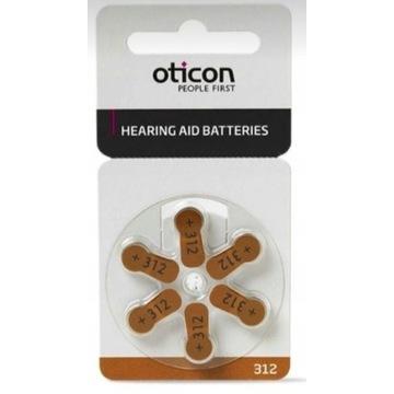 Baterie do aparatów słuchowych  OTICON 312