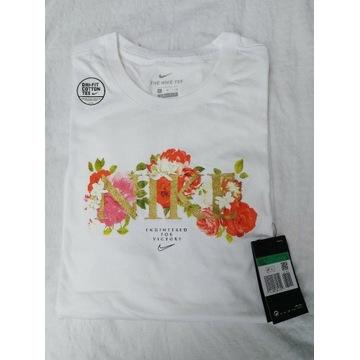 Koszulka T-shirt Nike w kwiaty r.XL oryginalna!
