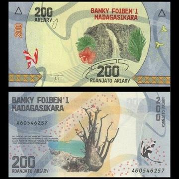 BANKNOT DO KOLEKCJI 200 ARIARY  MADAGASKAR
