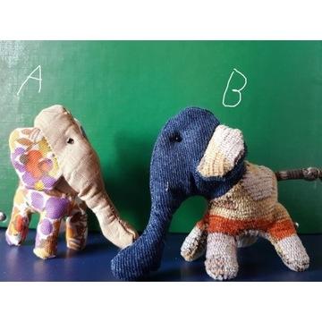 Ręcznie szyte mini słoniki maskotki