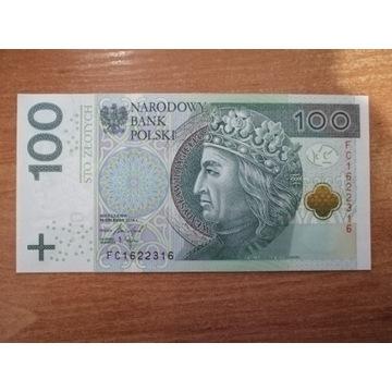 Banknot 100 zł seria FC