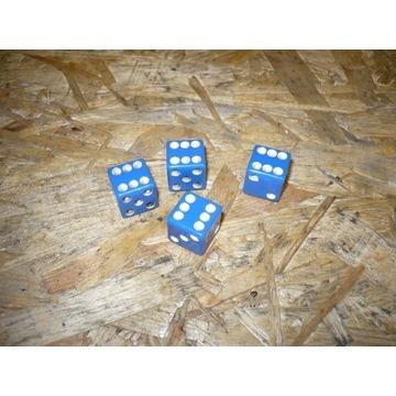 Niebieskie kostki na wentyle samoch 4szt st.bdb.wy
