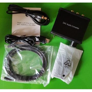 DAC Audio Converter Coaxial Optical do TV