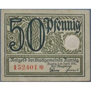 WMG.  50 pfennig 1919r.