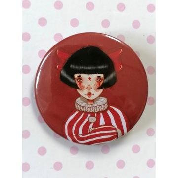 Przypinka Dziewczyna clown -Circus girl-