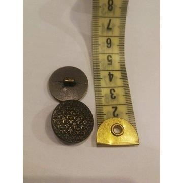 Miedziane guziki metalowe na nóżce 20 mm Wyprzedaz