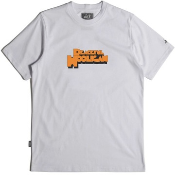 Peaceful Hooligan /  Clockwork T-shirt / Biały
