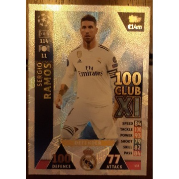 Topps Karta Sergio Ramos 100 CLUB XI 18/19
