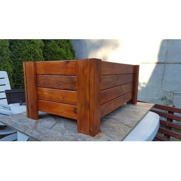 doniczka drewniana