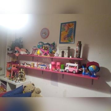 Półki różowe  - meble dla dziewczynki
