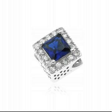 Charms do Pandora szafir kwadrat srebro 925