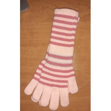 Nowe rękawiczki dziecięce dziewczynki 32cm długie