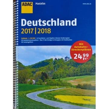 NIEMCY ATLAS SAMOCHODOWY ADAC 2017/18 Deutschland