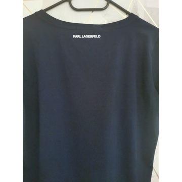 Męski T-shirt koszulka granatowa Karl Lagerfeld XL