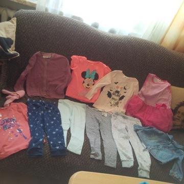 10 szt kurtka jeans sweter leginsy bluzki 18- 24