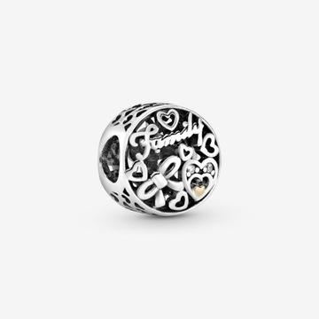 NOWY Charms Pandora TT z 14-karatowego złota