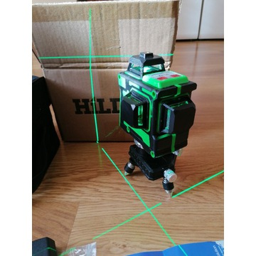 Laser krzyżowy zielony 3 x 360 poziomica HILDA 3D