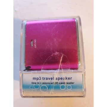 DENVER SP-6 PINK mp3 travel AUX Micro SD