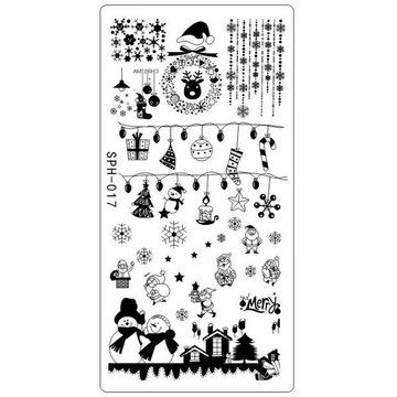 Blaszka płytka do stempli Święta / Christmas