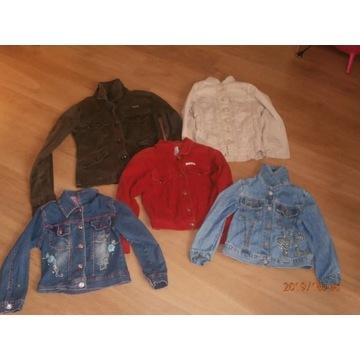 Kurtki i sukienki rozmiar 116-134.