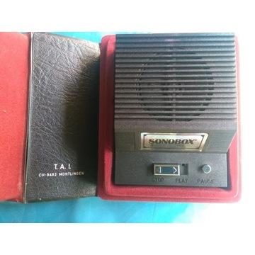 SONOBOX CH-9462 MONTLINGEN 1982r. Prl-u.