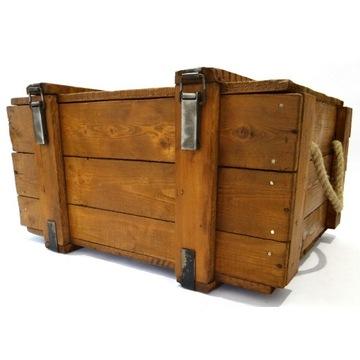 Skrzynka skrzynia drewniana Kufer Vintage 75x60x40