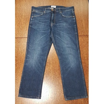 Spodnie dżinsy męskie Wrangler W33 L30 skrócone
