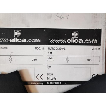 Filtr węglowy Elica F00264 MOD.31
