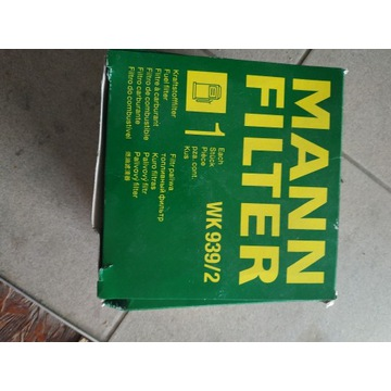 mann filter wk 939 2 Filtr paliwa