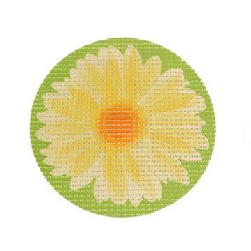 Mata łazienkowa DYWANIK zielona żółta okrągła