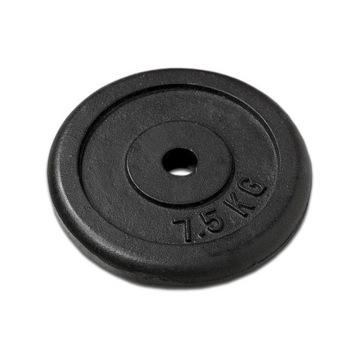 Czarny żeliwny krążek do sztangi 7,5 kg