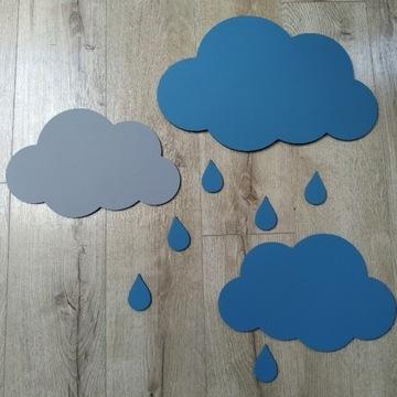Drewniane ozdoby na ścianę lub meble chmurki