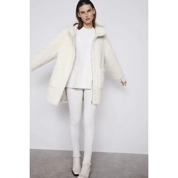 Płaszczyk ze sztucznego baranka, kożuszek Zara XL