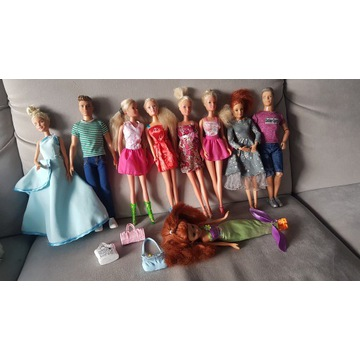 Barbie zestaw 9 sztuk oryginał