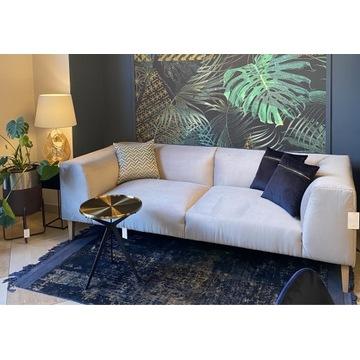 Sofa nierozkładana popielata