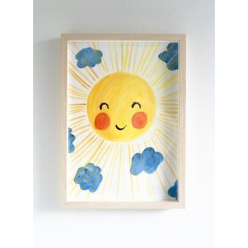 Obraz Słońce do pokoju dziecięcego A4