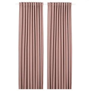 Zasłona IKEA ANNAKAJSA kolor różowy