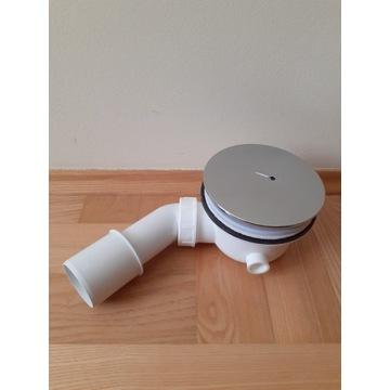 Syfon z pokrywą chromowaną czyszczony od góry