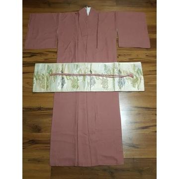 Japońskie kimono Iromuji + Fukuro Obi + Obijime