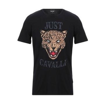 Just Cavalli - Czarny T-shirt w roz.L