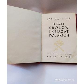 Książka Poczet królów i książąt polskich 1960 J.M.