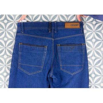 dżins jeans denim niebieskie ZARA 100% bawełna