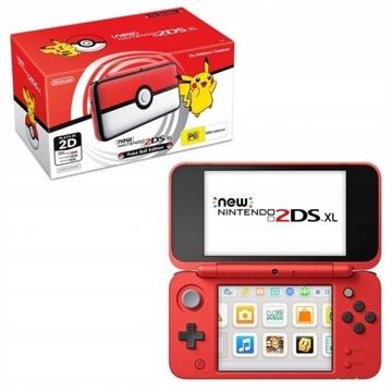 Nintendo New 2DS XL Poké Ball + 2 gry