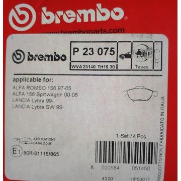 KLOCKI HAMULCOWE BREMBO P23075 23140192