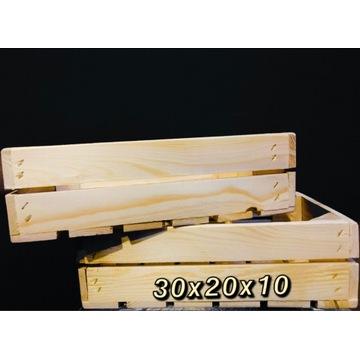 Skrzynka dekoracyjna / drewniana 30x20x10 NOWA
