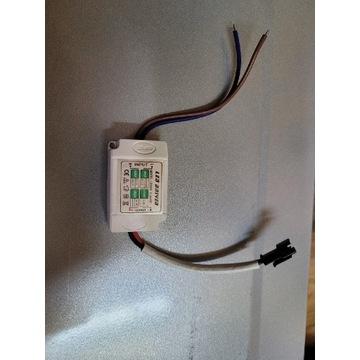 ZASILACZ LED DRIVER 1-3W 12V DC TRANSFORMATOR