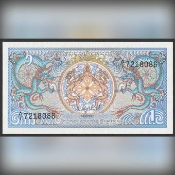 Bhutan 1 ngultrum 1985 - A/1 - stan bankowy UNC