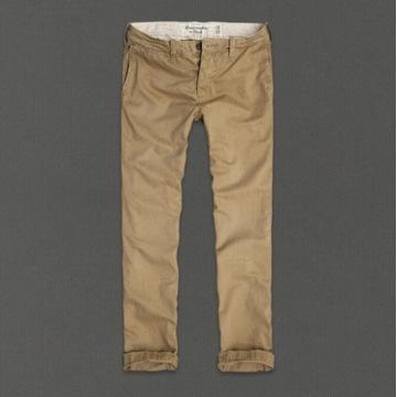 Spodnie Chino Abercombie&Fitch 4 pary 32X32