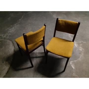 PRL, vitage dwa krzesła tapicerowane.