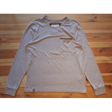 Naketano beżowa koszulka z długim rękawem XL